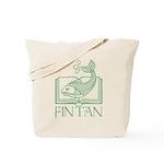Fin Tan Green Tote Bag