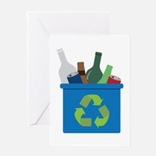 Full Recycle Bin Greeting Cards