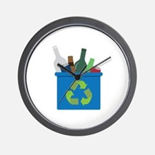 Full Recycle Bin Wall Clock