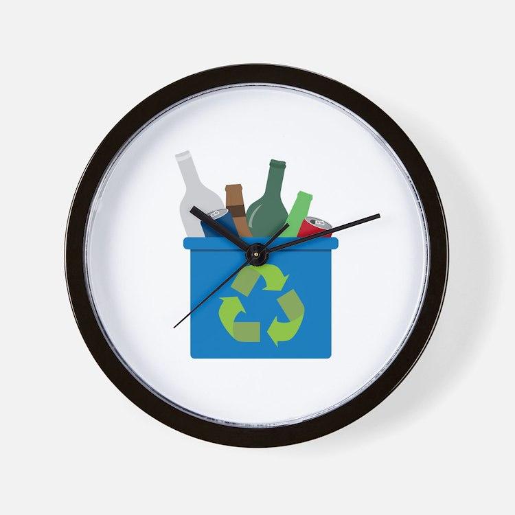 Full Recycle Bin Wall Clock