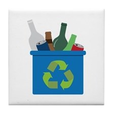 Full Recycle Bin Tile Coaster