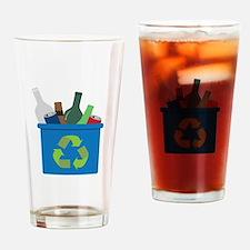 Full Recycle Bin Drinking Glass