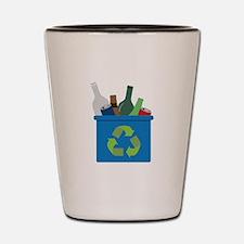 Full Recycle Bin Shot Glass