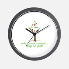 Always Be Green Wall Clock