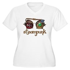 Steampunk Style-Goggles Plus Size T-Shirt