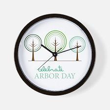 Celebrate Arbor Day Wall Clock