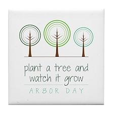 Plant a Tree Tile Coaster