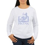 Fin tan lt blue line Women's Long Sleeve T-Shirt