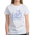 Fin tan lt blue line Women's T-Shirt