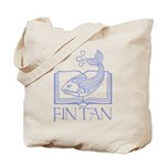Fin tan lt blue line Tote Bag