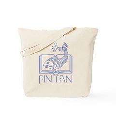 Fin tan lt blue line Tote Bag