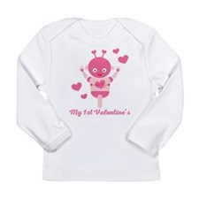 My 1st Valentines Day Robot Long Sleeve T-Shirt