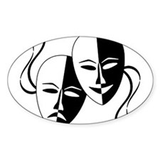 Theatre Masks for Theatre Love Decal