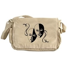 Theatre Masks for Theatre Lover Messenger Bag
