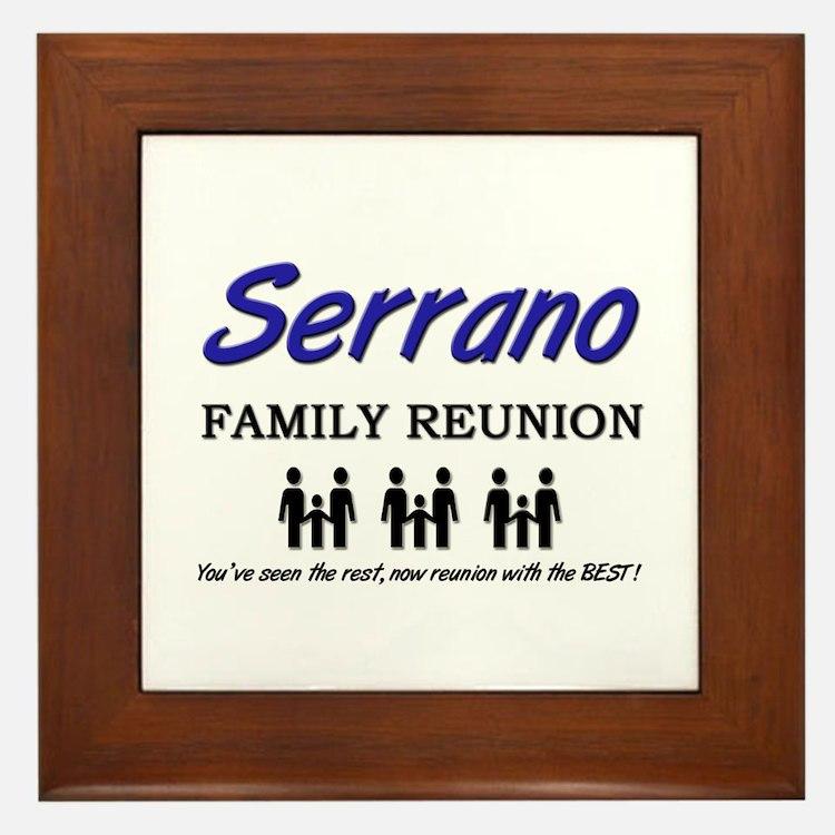 Serrano Family Reunion Framed Tile