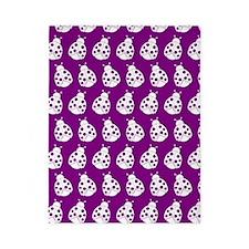 Purple and White Cute Ladybugs Pattern Twin Duvet