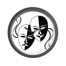 Theatre Masks for Theatre Lover Wall Clock