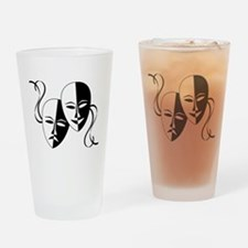 Theatre Masks for Theatre Lover Drinking Glass