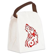 trible dog.png Canvas Lunch Bag