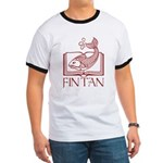 Fin Tan red Ringer T