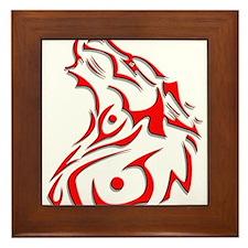 trible dog.png Framed Tile