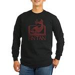 Fin Tan red Long Sleeve Dark T-Shirt