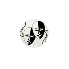 Theatre Masks for Theatre Lover Mini Button