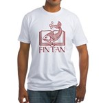 Fin Tan red Fitted T-Shirt
