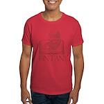 Fin Tan red Dark T-Shirt