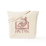 Fin Tan red Tote Bag