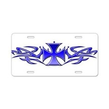 Tribal blue.png Aluminum License Plate