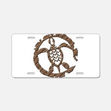 Stone Turtle Aluminum License Plate