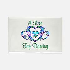 I Love Tap Dancing Rectangle Magnet (10 pack)