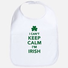I can't keep calm I'm irish Bib