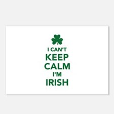 I can't keep calm I'm iri Postcards (Package of 8)