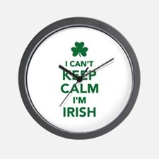 I can't keep calm I'm irish Wall Clock