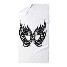 Elegant Carnival Mask Beach Towel
