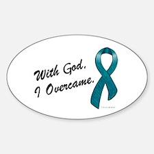 I Overcame (OC) Oval Bumper Stickers