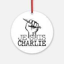 Je Suis Charlie Round Ornament