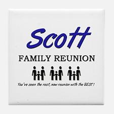 Scott Family Reunion Tile Coaster