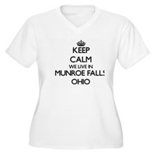 Keep calm we live in Munroe Fall Plus Size T-Shirt