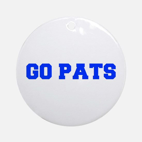 Go Pats-Fre blue Ornament (Round)