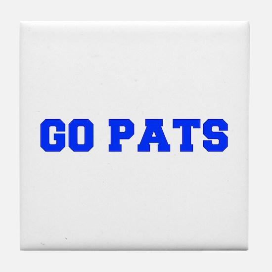 Go Pats-Fre blue Tile Coaster