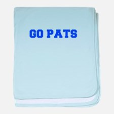 Go Pats-Fre blue baby blanket