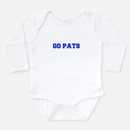 Go Pats-Fre blue Body Suit