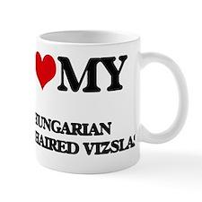 Cute I love my wirehaired vizsla Mug