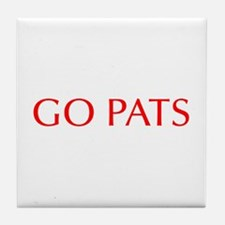 Go Pats-Opt red Tile Coaster