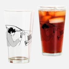 Auto Body Worker Drinking Glass