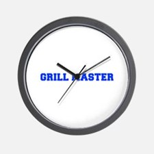 Grill Master-Fre blue Wall Clock