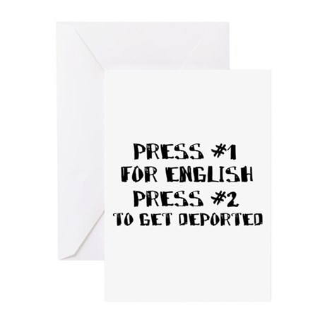 English or deportation Greeting Cards (Pk of 10)